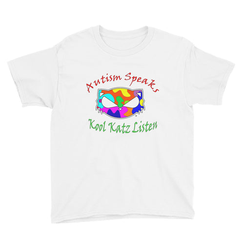 Autism-Speaks Kool Katz Listen Youth Short Sleeve T-Shirt