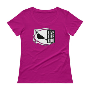 Live Life Kool - Ladies' Scoopneck T-Shirt