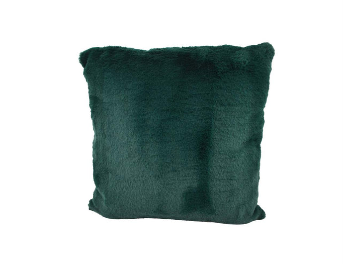 COUSSIN FAUX LAPIN VERT FONCE