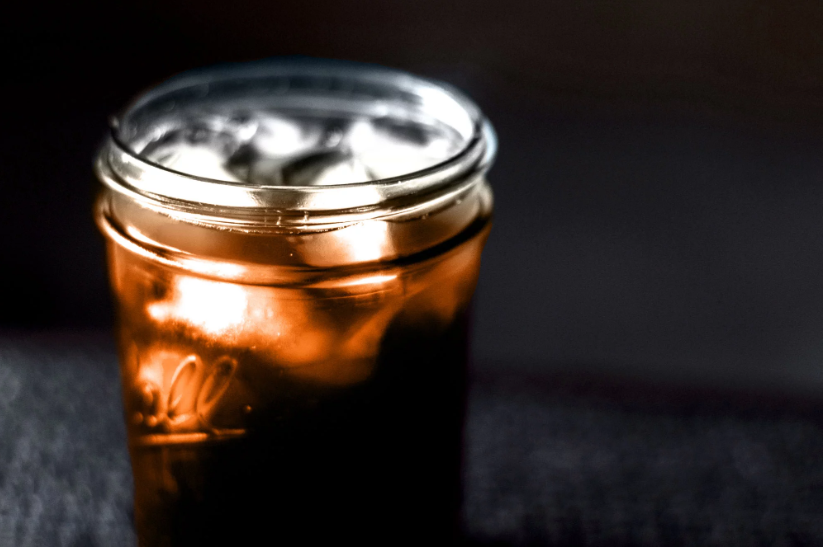 strong cold brew coffee mason jar