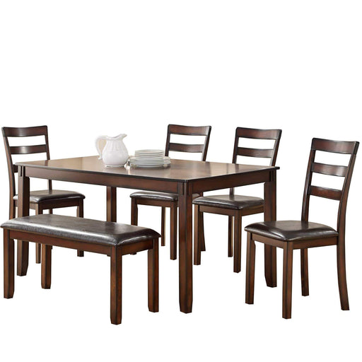 Eden Dining Table, Chair, and Bench Set
