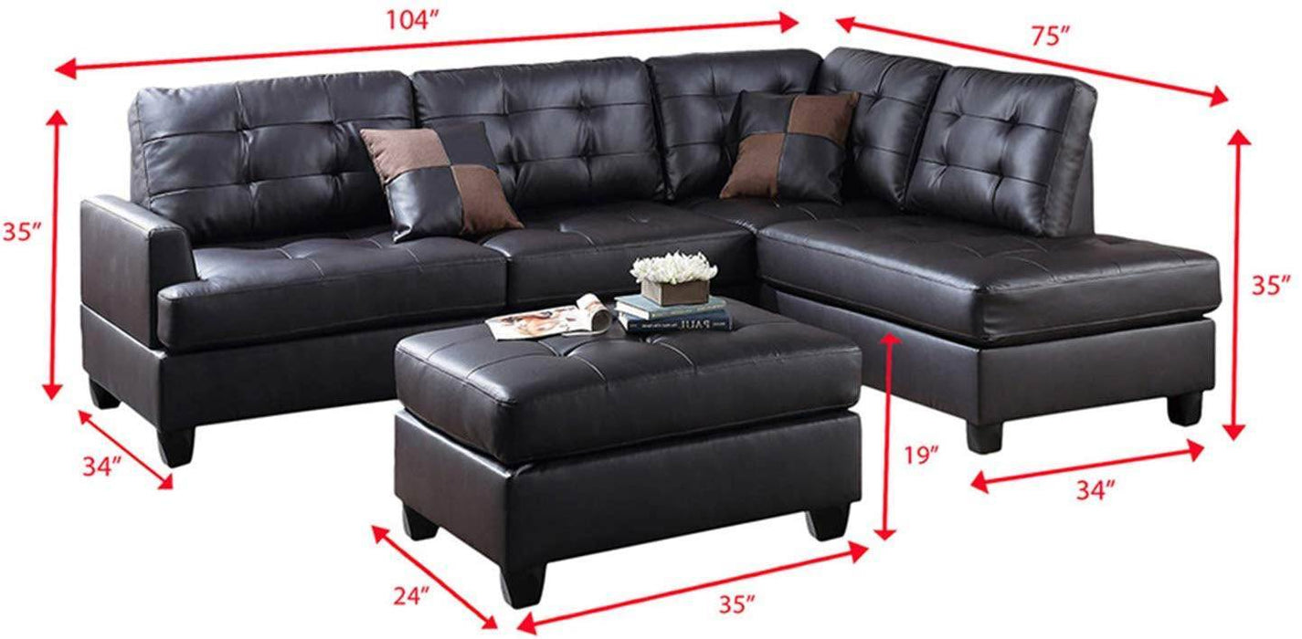 Emma Sectional Sofa and Ottoman