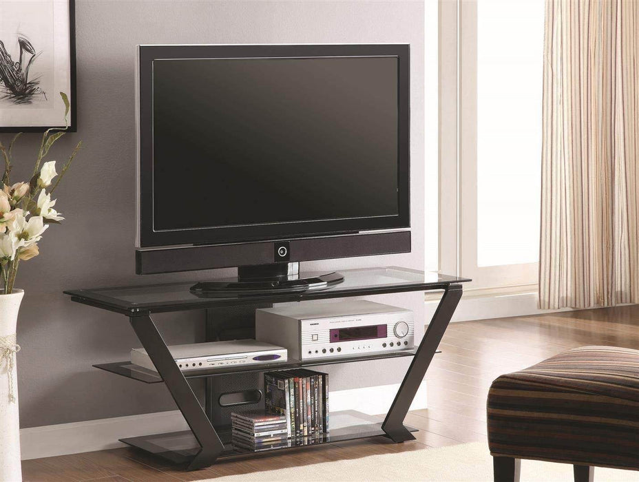 Winged TV Stand