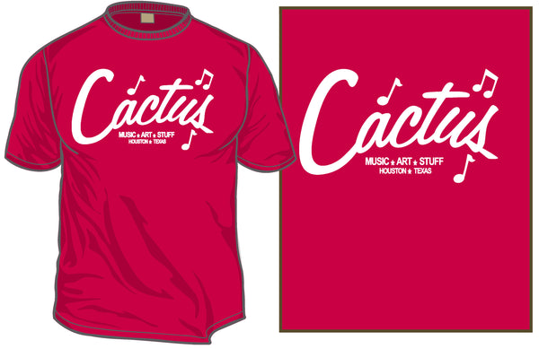 "Cactus ""Gilley's"" Honky Tonk T-shirt (Red Only)"