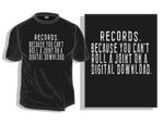 Digital Download T-shirt (Black Only)