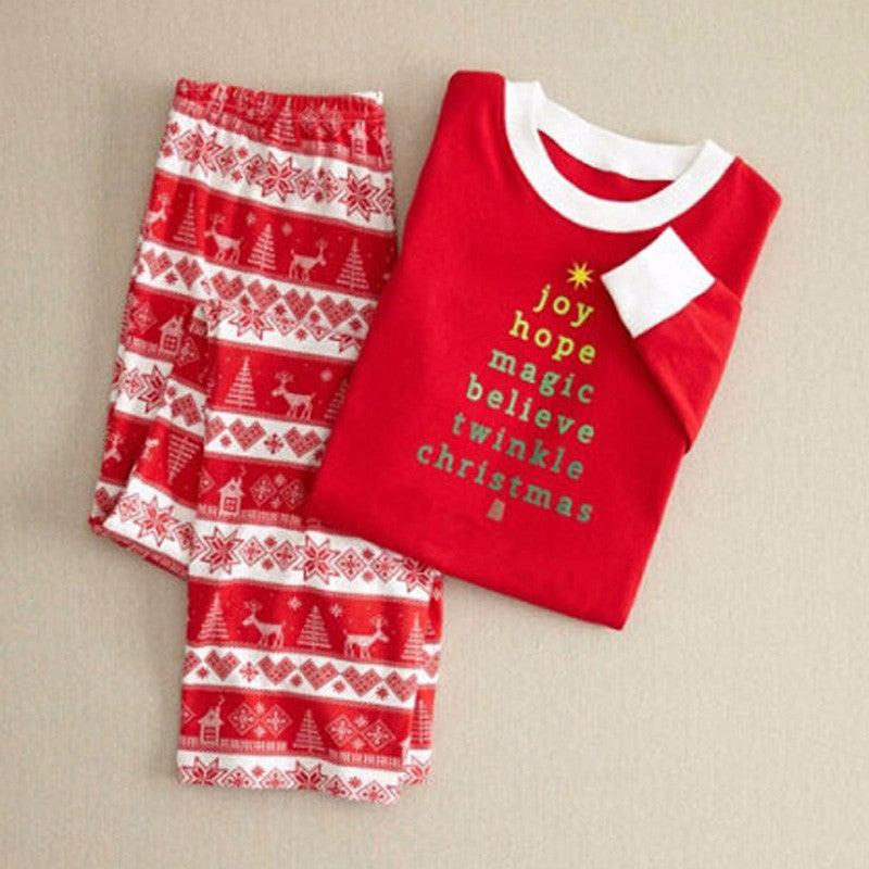 Family Matching Clothes Winter Christmas Pajamas Mother Father Son Outfits
