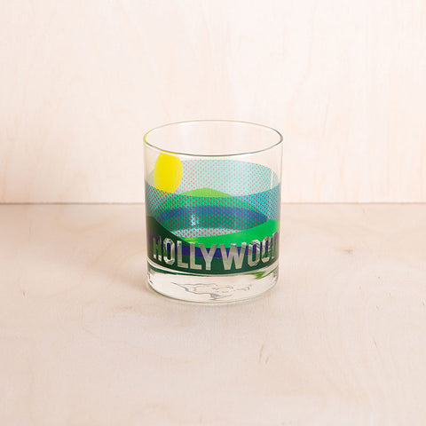 4-pc Glass Set - LOS ANGELES - HOLLYWOOD - VENICE - GRIFFITH PARK