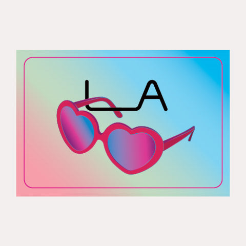 Postcard - Heart Sunglasses