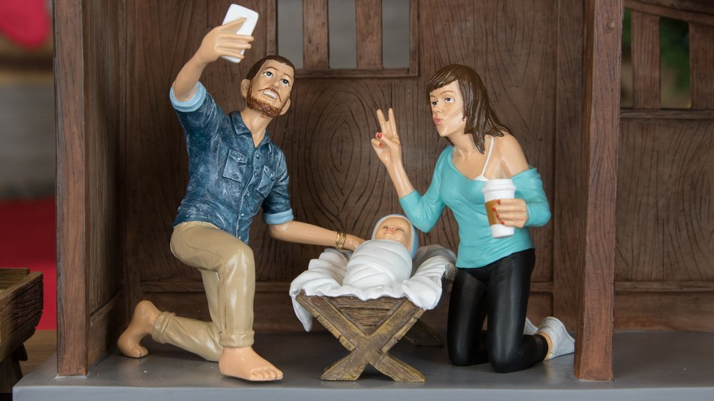 Hipster Nativity Set Gorilla Goodies - Hipster nativity set reimagines the birth of jesus in 2016