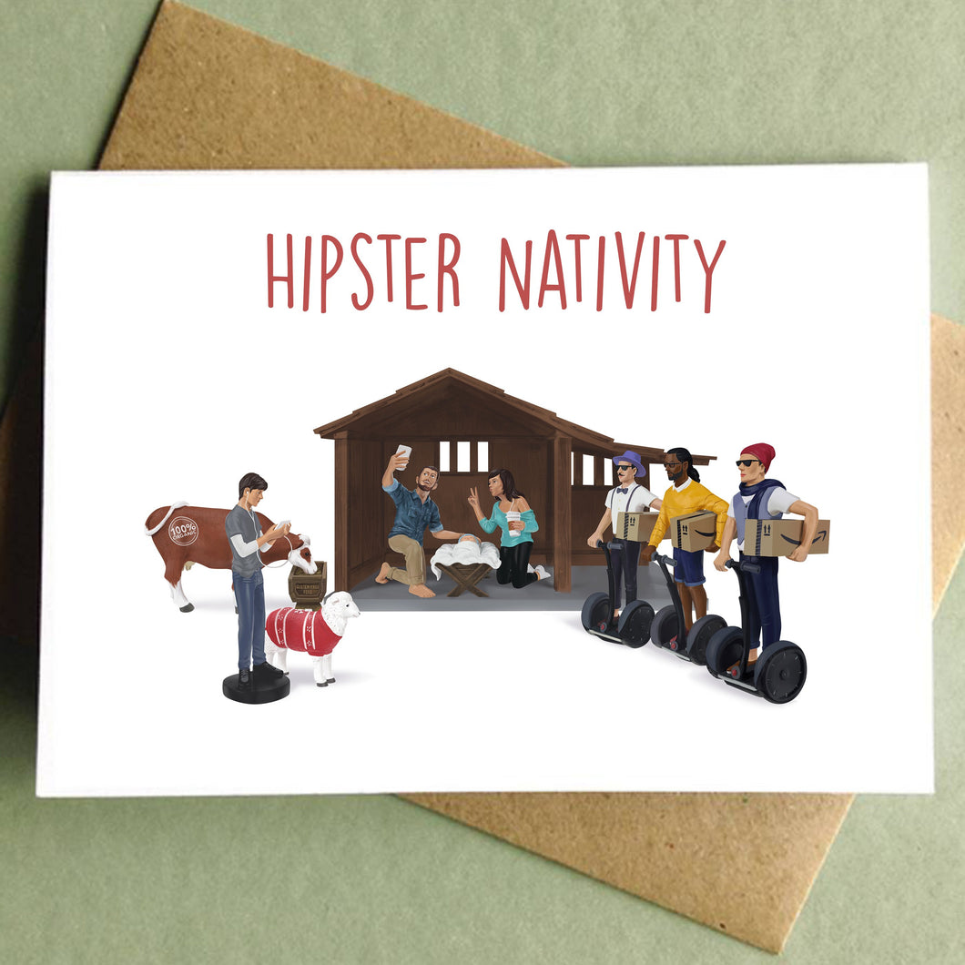 Hipster Nativity Holiday Card
