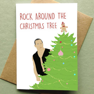 Rock Around the Christmas Tree Holiday Card