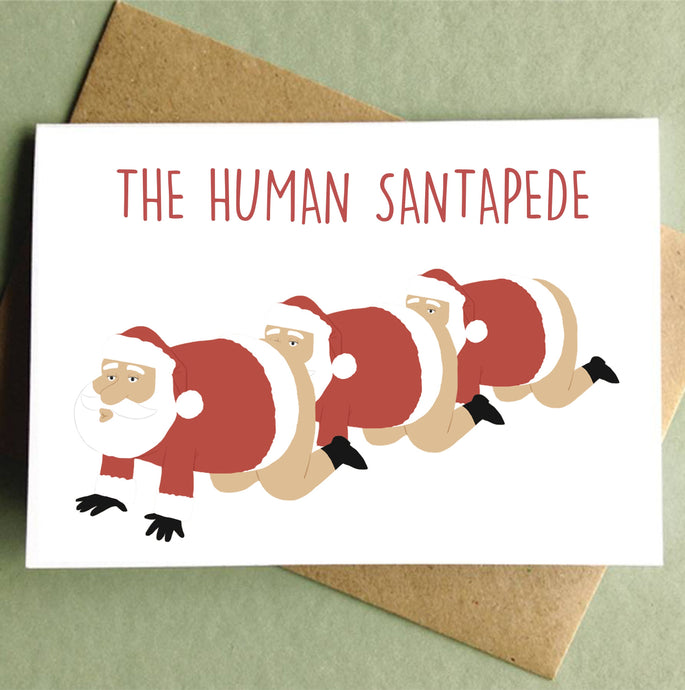 The Human Santapede Holiday Card