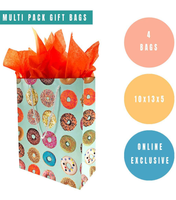 4 Pack Donut Gift Bags
