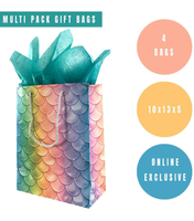 4 Pack Mermaid Gift Bags