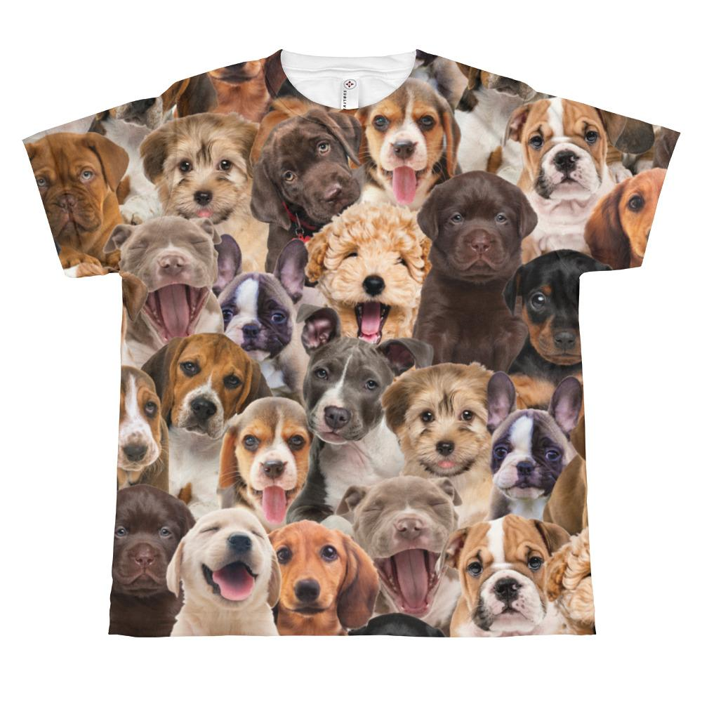 Puppy Print Youth T-shirt