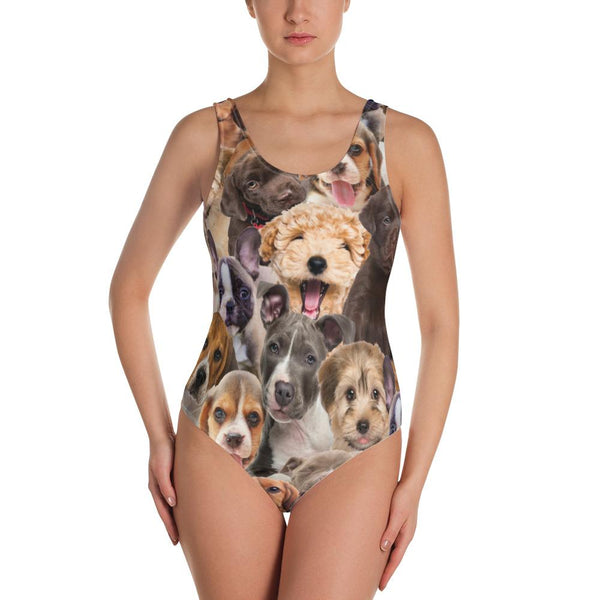 Puppy One-Piece Swimsuit