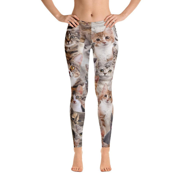 Kitten Print Women's Leggings