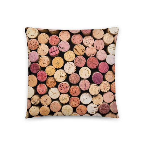 Wine Print 18 x 18 Accent Pillow