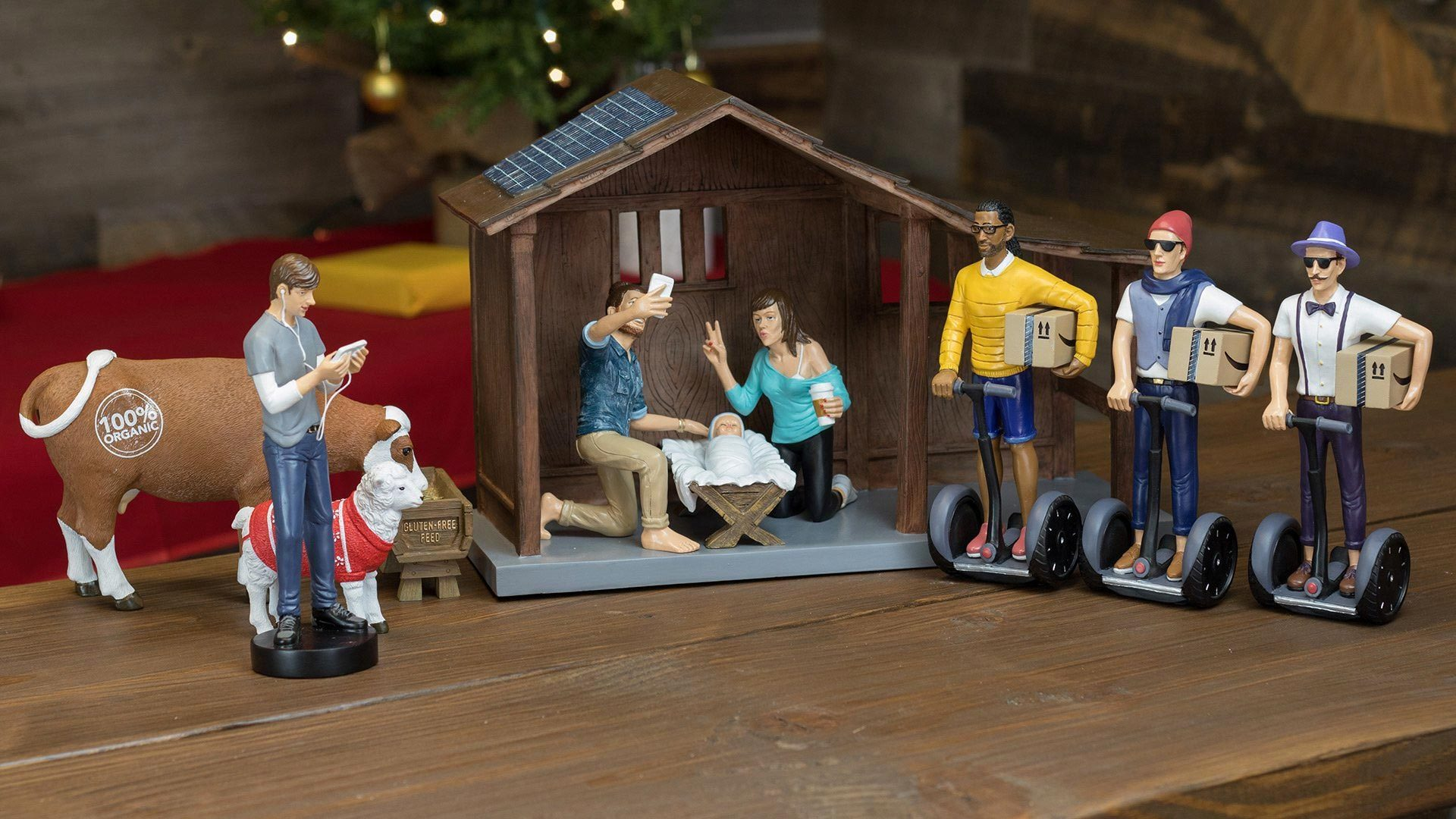 Hipster Nativity Set Gorilla Goodies