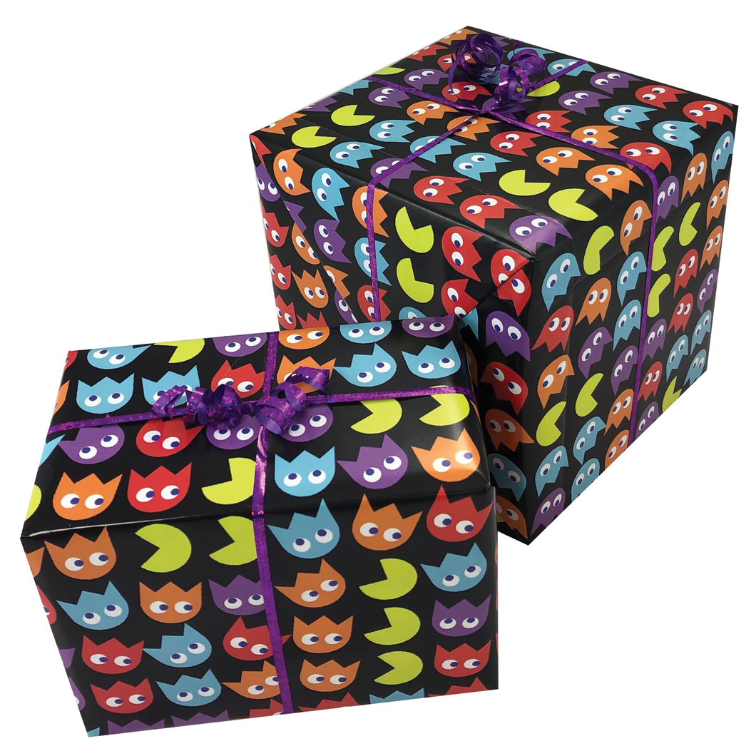 Pac Man Style Gift Wrapping Paper