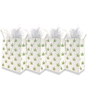 4 Pack Pot Leaf Gift Bags