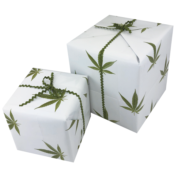 Weed Leaf Gift Wrapping Paper