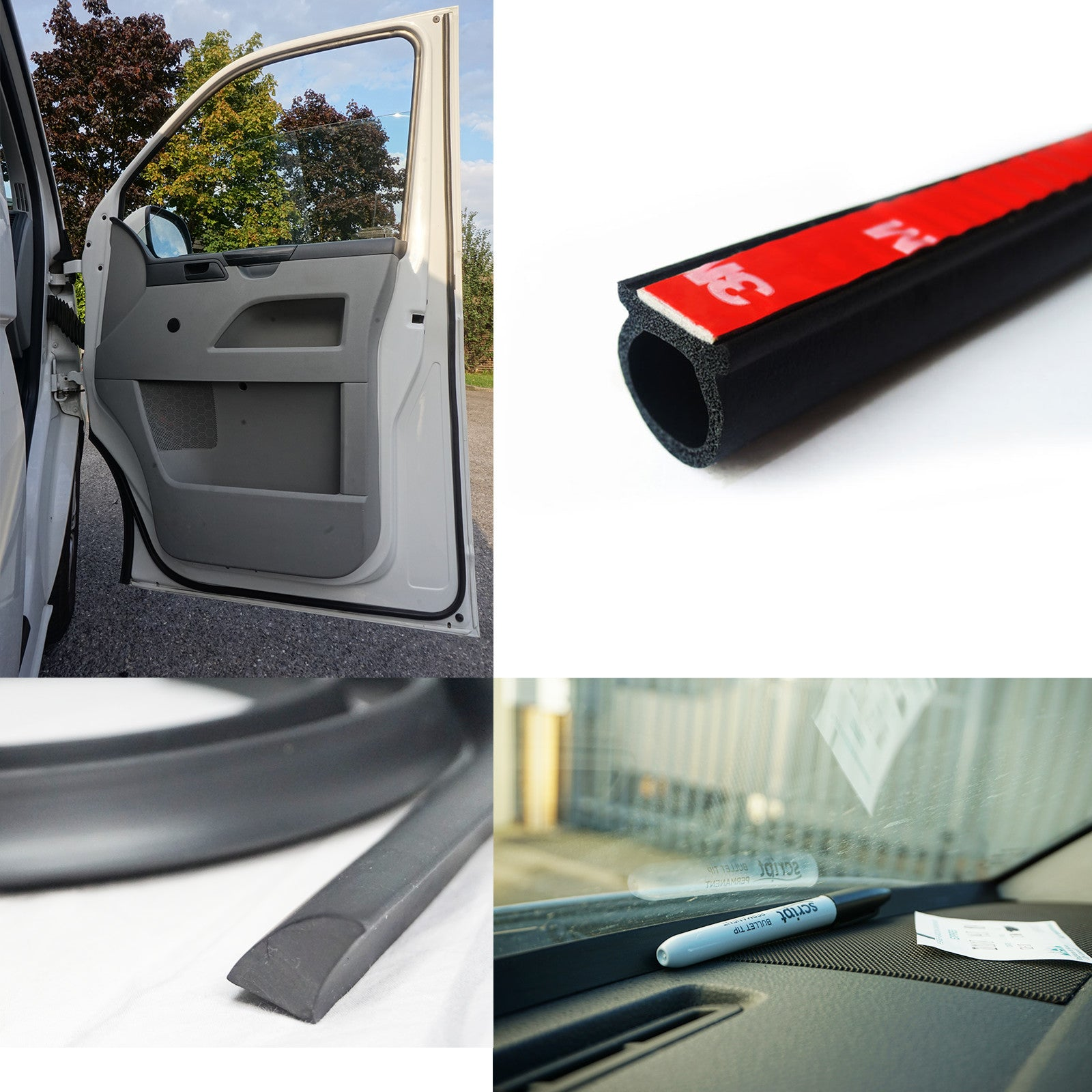 VW T5 T5 1 T6 Transporter Door Seal + Dash Trim Combo – AutoMute