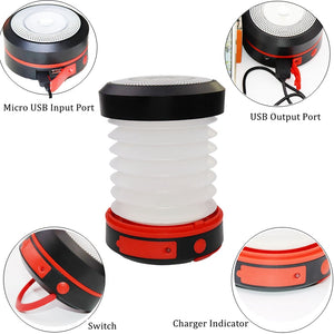 ALL-IN-ONE Portable Solar Camping Lantern, Phone Charger & Flashlight - EverythingTechGear