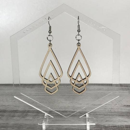 Holly and Liz - Open Triple Drop earrings