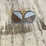 Holly and Liz - Two Tone Geo Studs - Circle earrings
