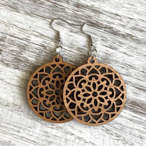 Holly and Liz - Mandala Drop - Geometric earrings