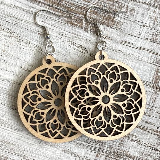 Holly and Liz - Mandala Drop - Daisy earrings