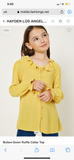 Girl's Ruffle Collar top
