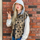 Distressed Hooded Star Jacket