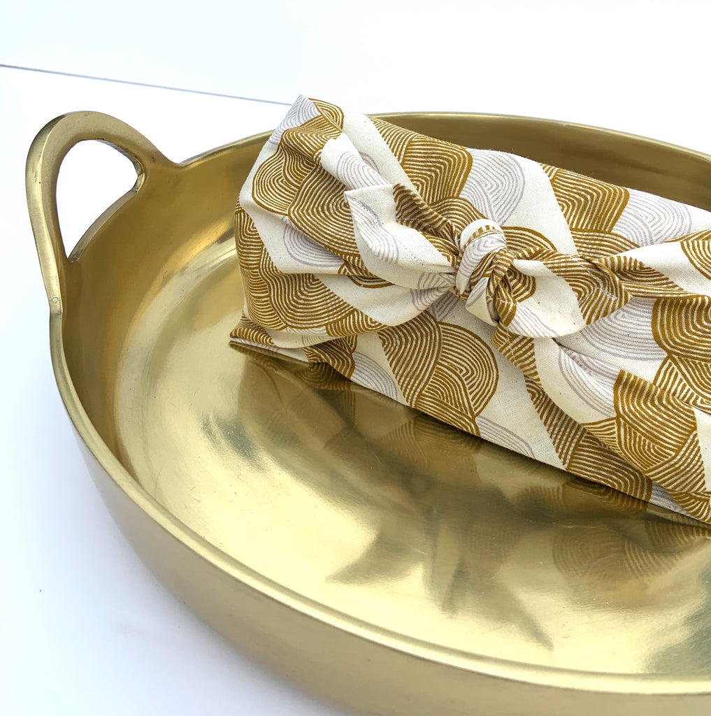 Holiday Green Flash Tea Set + Furoshiki