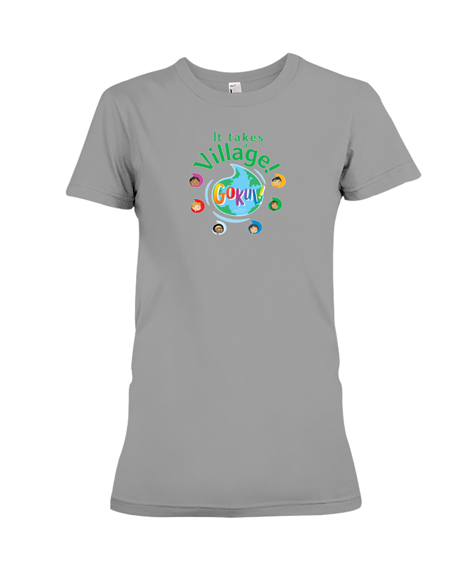 It Takes a Village! Women's Fitted T-Shirt (More Colors Available)