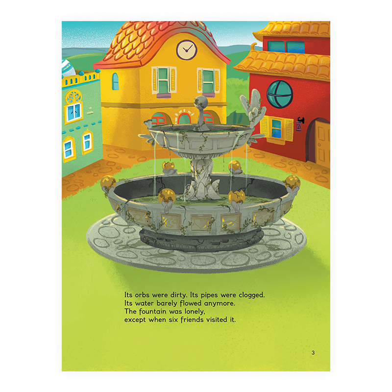 Gokul Village and The Magic Fountain (Hardcover Picture Book)