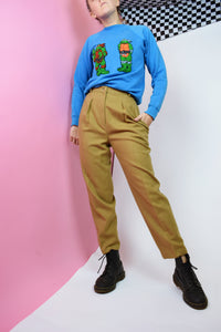 70s CAMEL BROWN TROUSERS - 0/2