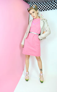 60s BARBIE PINK SHIFT DRESS