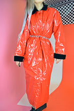 RED PVC DUSTER COAT - M/L