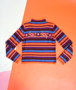90s RAINBOW STRIPED TRTLNCK