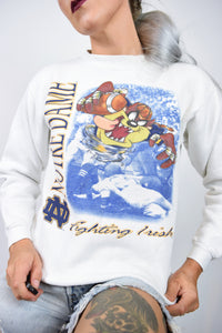 white TAZ NOVELTY SWEATER