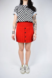 BRIGHT RED MICKEY SKIRT