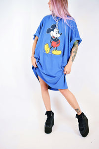 80s BLUE MICKEY TUNIC - XXL