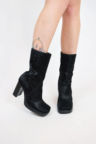 Y2K PONY HAIR BOOTIES