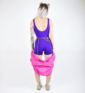 VTG Purple Cotton Twerkout Romper