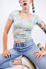 90S FLOWER POWER BLOUSE - SMALL