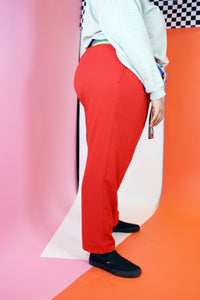 80s STAPLE RED TROUSERS - XXL