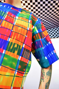 80s RAINBOW PICASSO BLOUSE