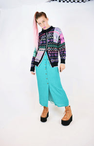 KAWAII COLORFUL KNITTED CARDIGAN - S/M